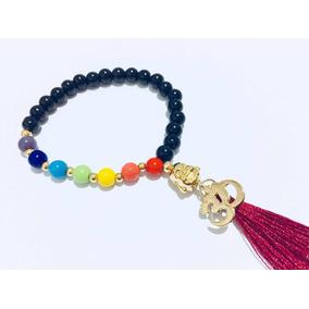 Japa Mala 27 Cuentas Meditacion Mantra Buda Y Om Baño Oro
