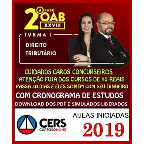 Curs Oab Xxviii 28 2segunda Fase Direito Tributario 2019