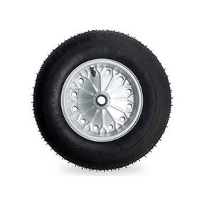 Roda Para Carrinho De Mão Com Camara Completa 4 Peças