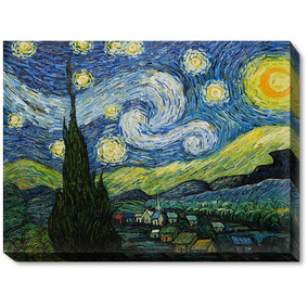 44322c9f34c2b2 Overstockart Van Gogh Starry Night With Gallery Wrap 30 By 4
