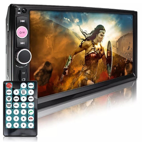 Dvd 2 Din Multimidia Bluetooth Usb Sd Tela 7 Hd Usb Fm