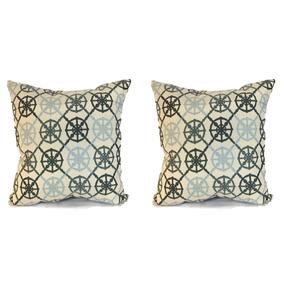 Set De 2 Cojines Decorativos 45x45 - Anchor - Azul Claro
