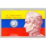Doblon Plata Medio Ley 1000 Año 1981 Libertador Certificado