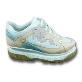 9b2180e9cd0 Zapatillas Para Mujer Color Fluor - Zapatillas Crema en Mercado ...