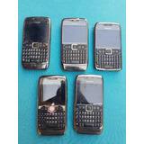 Lote Com 5 Celulares Nokia E71 (leia A Descrição)