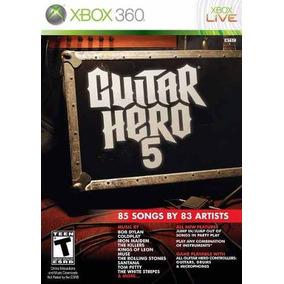Jogo Mídia Física Semi Novo Guitar Hero 5 Para Xbox 360