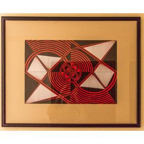 Cuadro, Pintura, Esferos, Abstracto, Geométrico 73x58,5com