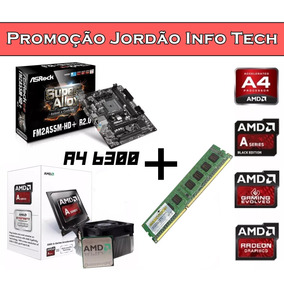 Kit Amd Msi Fm2+ + Processador A4 6300 + 4gb Ddr3 Novo!!!