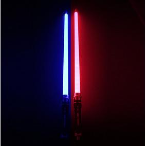Light Saber Duplo Sabre De Luz C/ Som (1 Azul + 1 Vermelho)