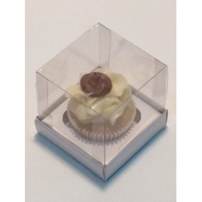 75 Caixas Para 1 Mini-cupcake - 6x6x7cm Tampa Acetato