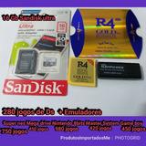 R4 Card Micro Sd 16gb Cartão Com Emuladores E 2500 Jogos Dsi