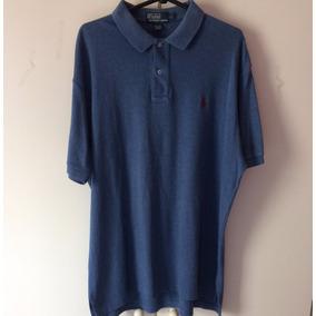 Camisa Polo Ralph Lauren Azul Marinho Gola Branca - Calçados 2a1fee58b53
