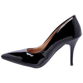 6ee68eccba Sapato Nude Verniz Salto Medio - Sapatos Preto no Mercado Livre Brasil