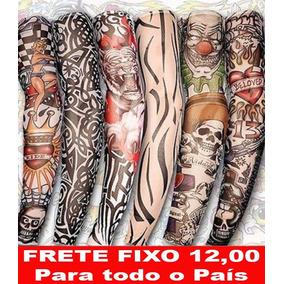 6 Sleeve Manga Fake Tattoo Tatuagens Falsa Segunda Pele