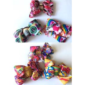 Paquete 3 Moños Pelo Choco Roles Paleta Payaso Unicornio