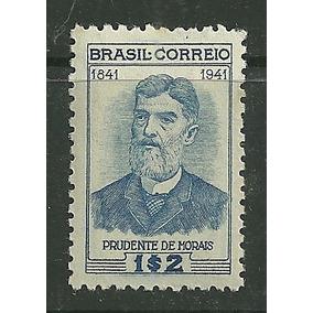 1942 - Centenário Nasc Prudente De Moraes - Mint * Rhm C174