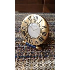 72db1eaa6a9 Relógio Cartier De Viagem...travel Despertador!!!! Raro!! R  3.250