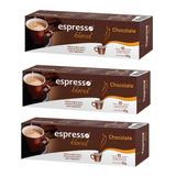 Kit 30 Cápsulas Café Sabor Chocolate Compativeis Nespresso