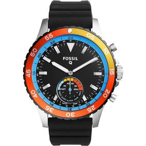 Reloj Fossil Hibrido Ftw1124 Smartwatch Cab Fitness Correr