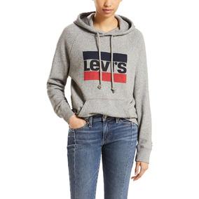 Moletom Levis Graphic Sportswear Feminino Cinza - Cor Cinza e0a7be24029