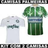 Novas Camisas Palmeiras 2019 + Retrô 1993 - Kit Com 2 eb87355e16447