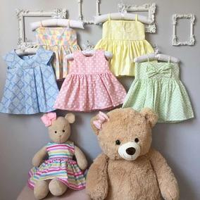Kit 5 Pç Vestido Bebê Menina Atacado Roupa De Bebê Princesa
