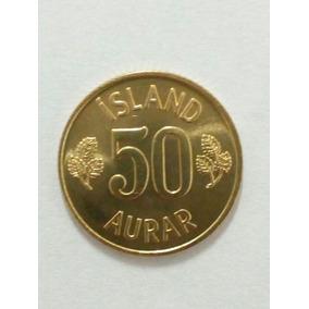 Islandia Moeda 50 Aurar 1974 (19mm)