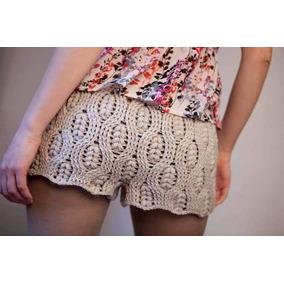 Short Tejido Crochet Verano Calor Playa