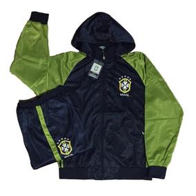 Agasalho Da Seleção Brasileira Blusa Jaqueta Calça Brasil 12035f58fa3a0