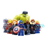 8 Figuras Super Heroes Marvel Avengers Hulk Compatibles Lego