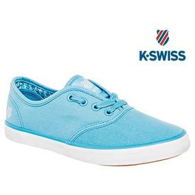 Tenis K-swiss Beverly De Mujer Color Azul 22-26 W81868