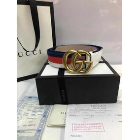 e2f9a65a4 Cinturon Gucci Tribanda Blanco - Cinturones Hombre Gucci en Mercado ...