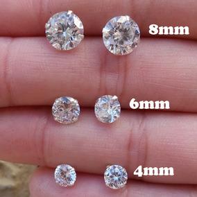 3 Brincos Zirconia Feminino Prata 925 1º 2º 3º Furo Trio