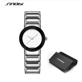 aa4ac60c707 Lindo Relogio Sinobi Aço Inoxidável Preto Feminino - Relógios De ...