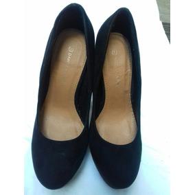 Zapatos Negros De Gamuza Taco - Ropa c1a43f8002c