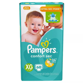1 Paquete Pañales Pampers Confort Sec 68 Unidades Talla Xg