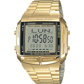 04196a0ba0a Relogio Casio Data Bank Dourado - Relógios no Mercado Livre Brasil