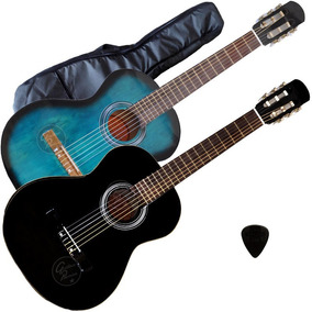 Guitarra Acustica Cuerdas Nylon + Funda Acolchada + Pua Gtia