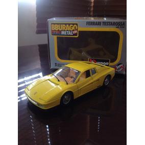 Carro De Colección Ferrari Testarosa Marca Burago 1/24