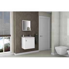 Gabinete Armário Para Banheiro Com Pia Siena Branco_branco