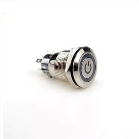 6x Botões Power, 12v 16mm Com Trava.
