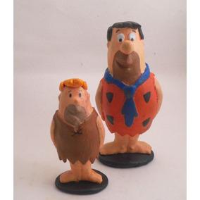 Miniatura Do Fred Flinststone E Barney.em Resina, Com 13 Cm