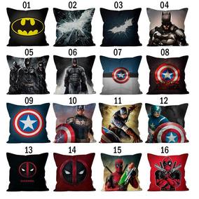 6 Capas Almofadas Decoração Super Herois | Mundo Geek Nerd