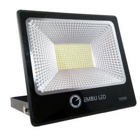 Refletor Super Led 100w 3000k Ip66 Slim Embu Led