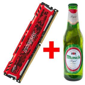 Kit Memória Crucial + Cerveja Ballistix Ddr4 16gb 2400mhz