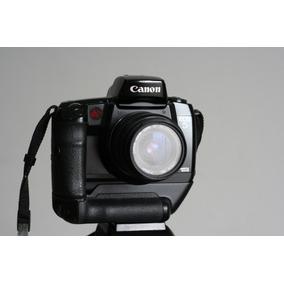 Camera Canon Eos5 Com Lente Grip Flash Filtro Alca E Manual