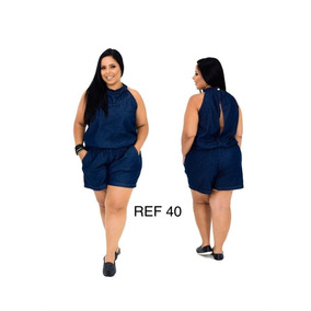 Kit 3 Roupas Macaquitos Vestidos Plus Size Jeans Atacado