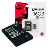 Micro Sd Kingston + Adaptador 16 Gb Clase 4