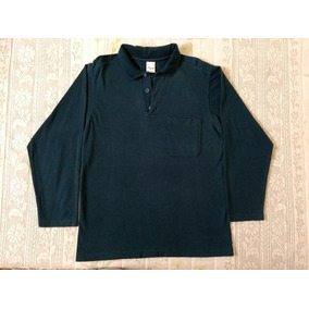 9a84b6a327 Camisa camiseta Polo Manga Longa- Azul- Masculino- Malwee