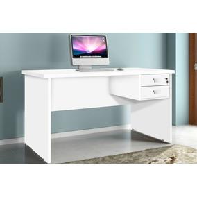 Mesa Para Computador Espaçosa Com 2 Gavetas 1 Chave Tampo 25